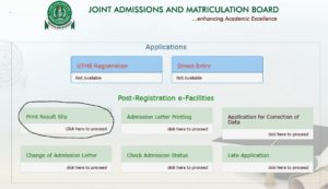 Check JAMB CBT 2017 Result Here Online – www.jamb.org.ng/eFacility/PrintResultSlip