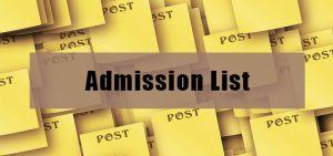 Schools Whose Admission Lists are Out 2019