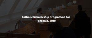 Catholic Scholarship programme 2019