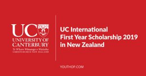 UC International First Year Scholarship 2019