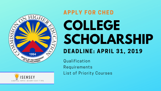 CHED-Tulong Dunong Scholarship 2019 for College Students