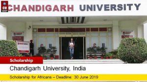 Chandigarh University Scholarship 2019