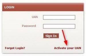 UAN Login Portal