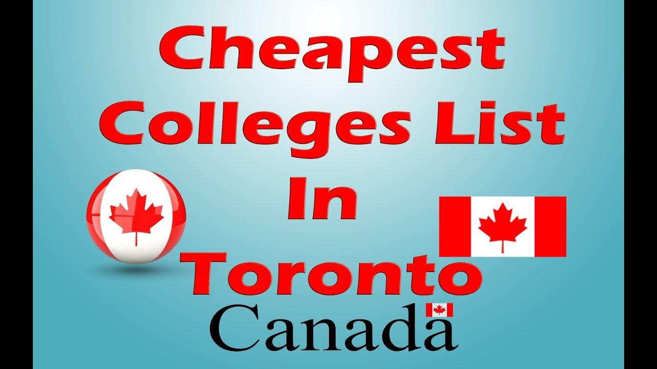 多伦多最便宜的国际学生学院2020更新