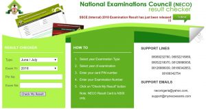 Check NECO Result 2019 June/July SSCE Result www.mynecoexams.com