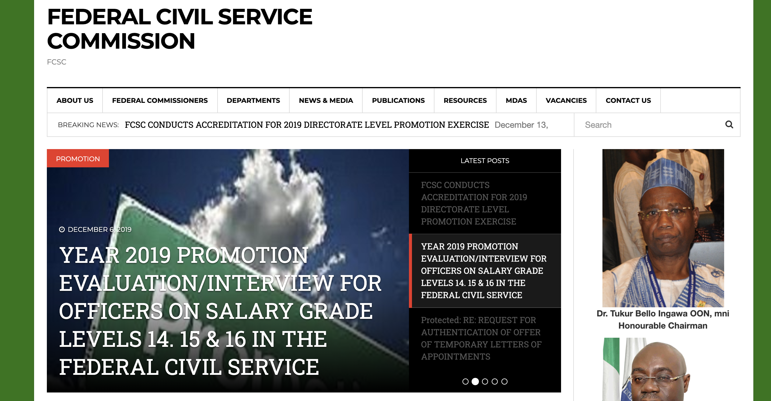 FCSC Recruitment Portal