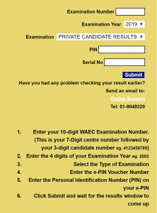WAEC GCE Result 2019 2nd Series (Aug/Sept) is Out