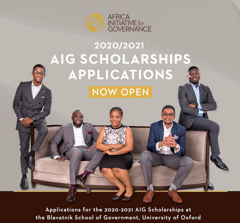 Africa Initiative for Governance (AIG) Scholarships 2020/2021 Updates