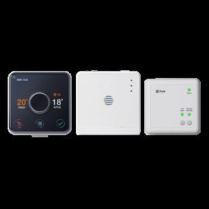 Bijenkorf actieve verwarming en warmwaterthermostaat met professionele installatie + Echo Dot (3rd Gen)