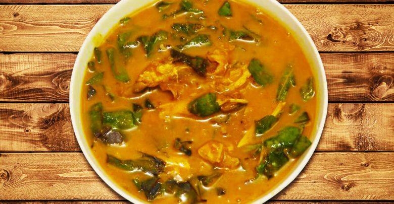 Yellow Eba and Oha Soup