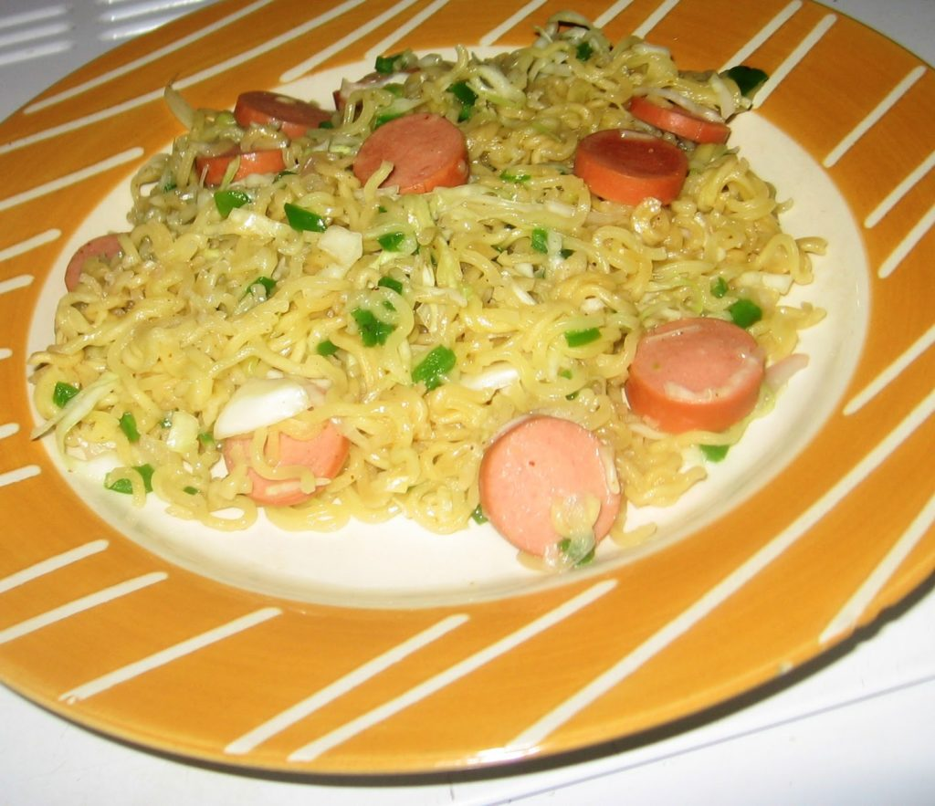 Nigerian cooked Noodles