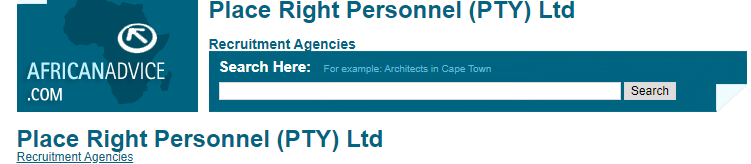 Place Right Personnel (PTY) Ltd
