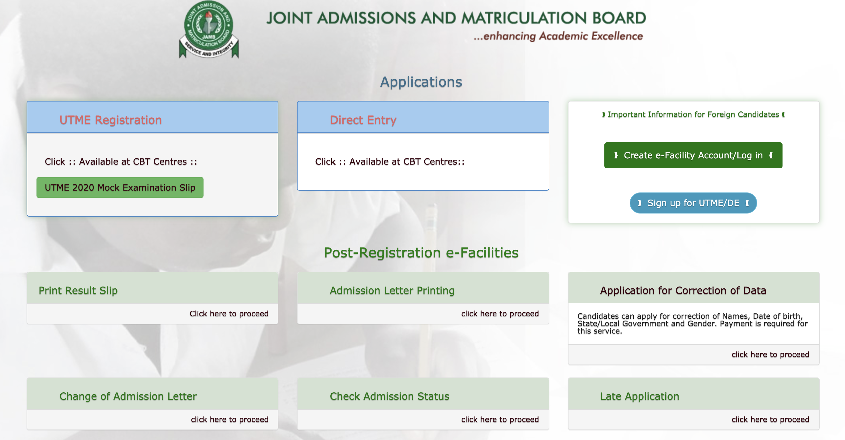 JAMB 2020 Result is Out on JAMB CBT Portal www.jamb.org.ng