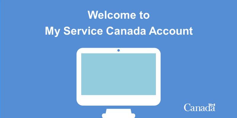 Il mio servizio Portale di accesso all'account Canada e Guida alla registrazione Aggiornamenti 2020