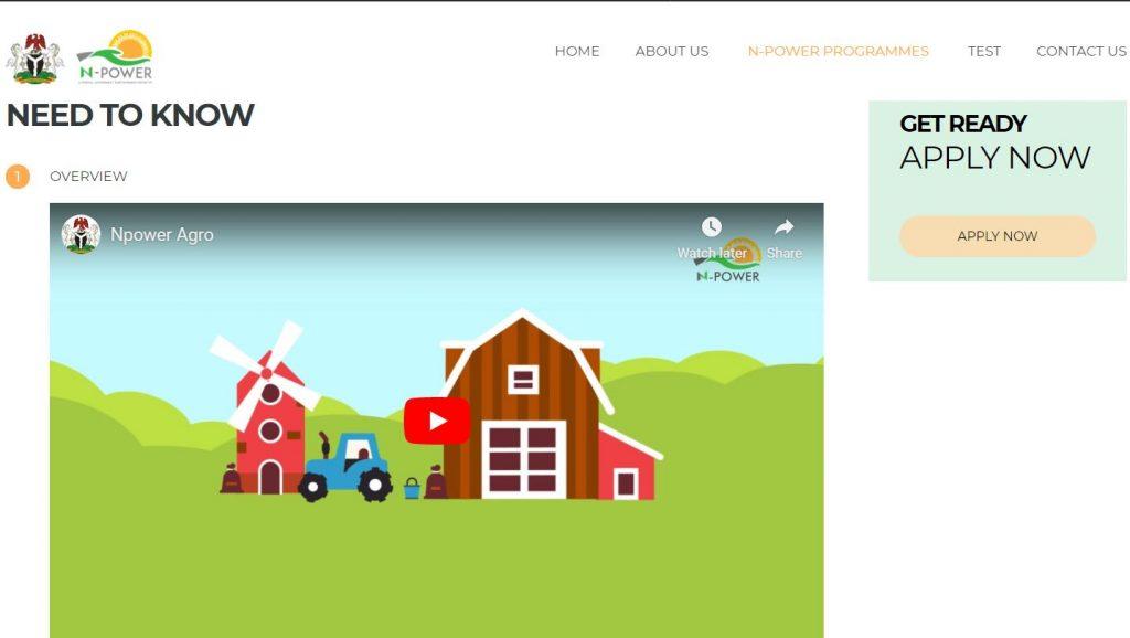 Npower Agro Recruitment 2020/2021 Application Updates Portal