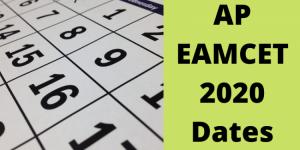 AP EAMCET 2020 Examendata en -rooster: vrijgegeven