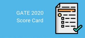 GATE Score Card 2020 | Obtenez la carte de score ici