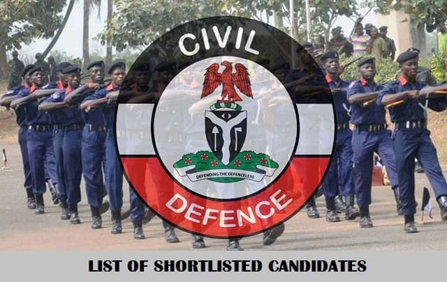 Civil Defence Recruitment Shortlisted Candidate 2020