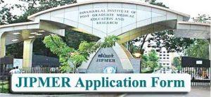 JIPMER 2020 Application Form