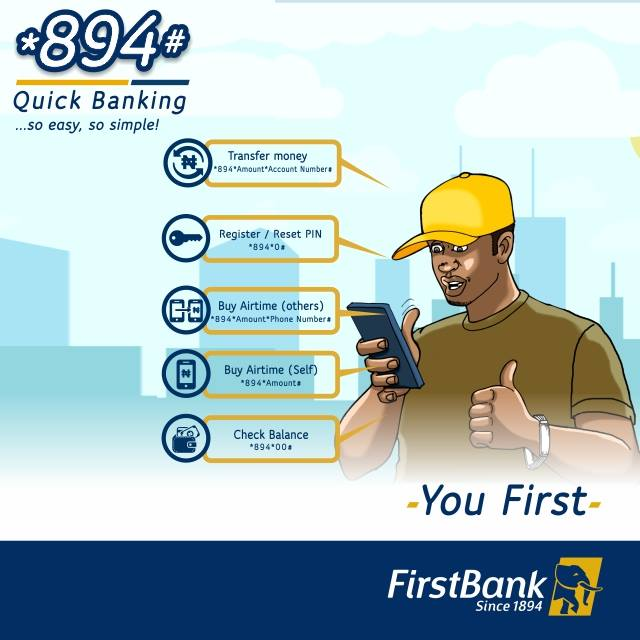 First Bank Transfer Code *894# | See How to Register Here