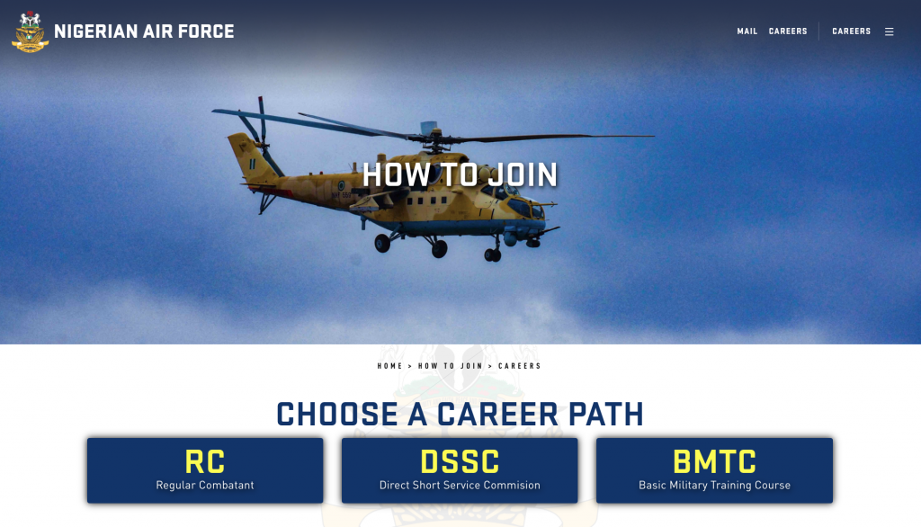 Nigerian Airforce Recruitment 2020/2021 Application Portal www.airforce.mil.ng