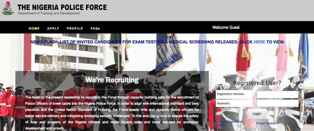Nigeria Police Recruitment 2021/2022 Application Portal Guide