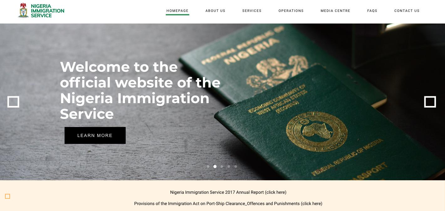 Nigeria Immigration Service Recruitment 2021/2022 Application Portal