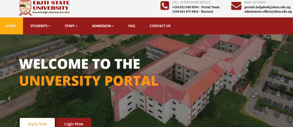EKSU Portal Student Login 2021