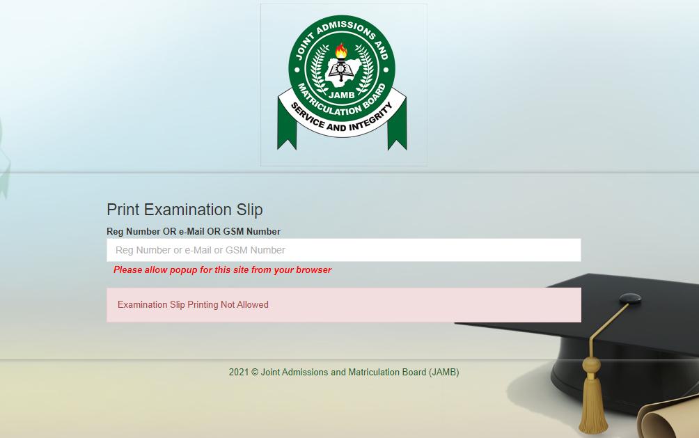 How to Reprint JAMB Registration Slip Online