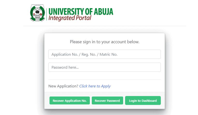 Application Process for UNIABUJA Screening Form