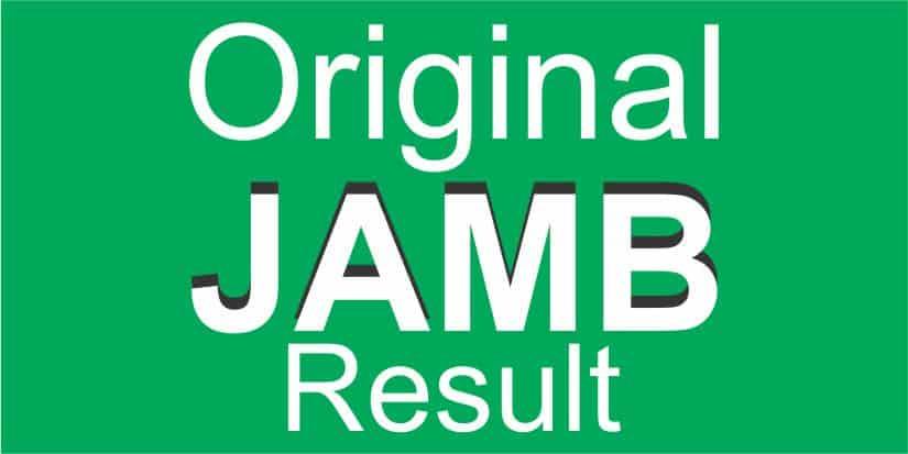 JAMB Original Result Slip Printing 2021