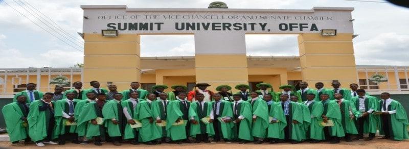 Summit University Offa, Kwara State Recruitment 2021 March Updates