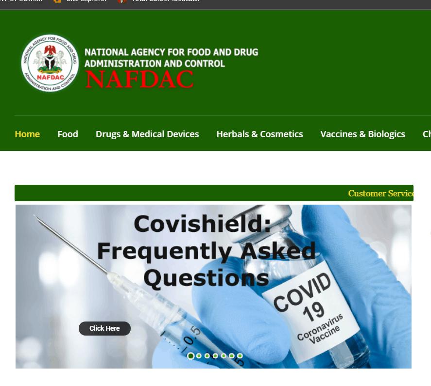 www.nafdacrecruitment.gov.ng Recruitment Portal 2021 See Latest Application Portal