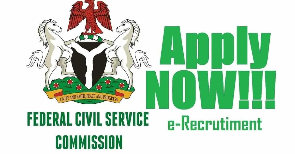 Federal Civil Service Recruitment 2021/2022 Check Latest Application Update