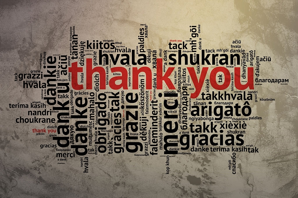 Different Words for Thank You