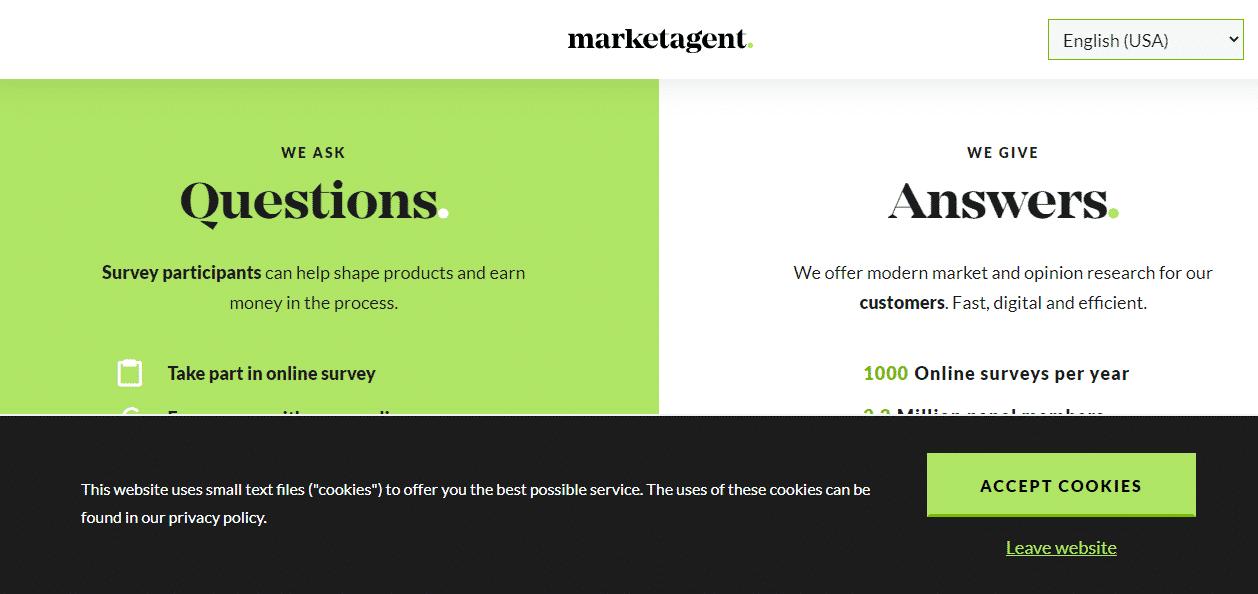 MarketAgent 18 Top Paying Survey Sites