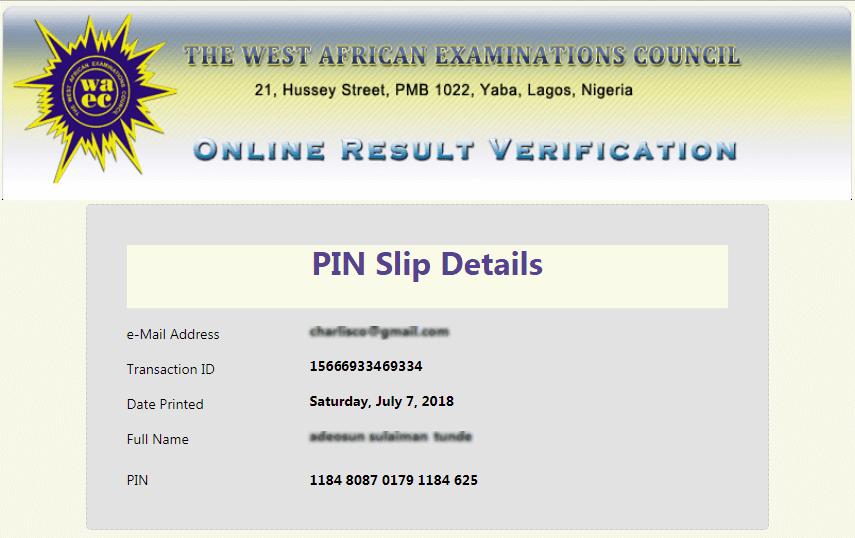 How to Get WAEC Verification Pin